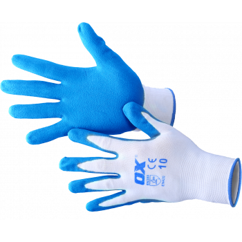 Ox Polyester Lined Nitrile Gloves